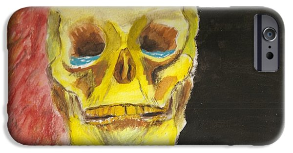 Mental Paintings iPhone Cases - Bpd iPhone Case by Rob Spencer