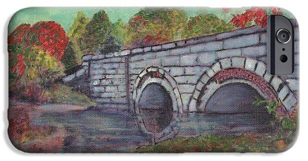 Sudbury River iPhone Cases - Brackett Reservoir Railroad Bridge iPhone Case by Cliff Wilson