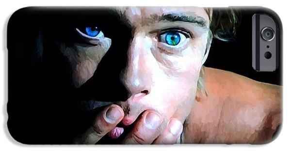 James Gandolfini iPhone Cases - Brad Pitt in the film The Mexican - Gore Verbinski 2001 iPhone Case by Gabriel T Toro