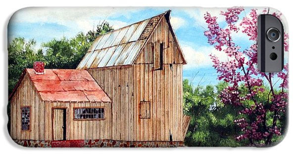 Old Barns iPhone Cases - Bradfords Barn iPhone Case by Michael Dillon