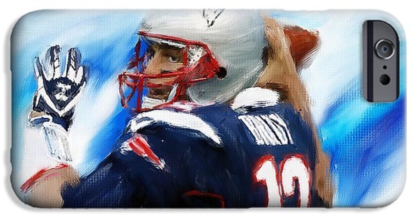 Tom iPhone Cases - Brady iPhone Case by Lourry Legarde