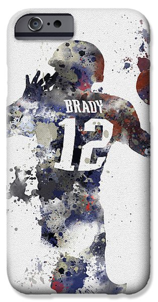 Tom Brady iPhone Cases - Brady iPhone Case by Rebecca Jenkins