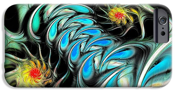 Anastasiya Mixed Media iPhone Cases - Brain Stimulation iPhone Case by Anastasiya Malakhova