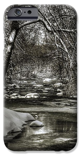 Brainards Bridge After a Snow Storm 4 iPhone Case by Thomas Young