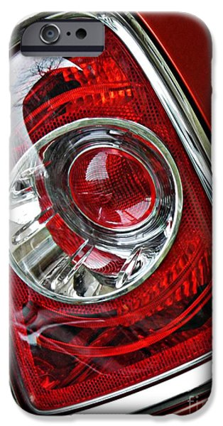 Glass Reflections iPhone Cases - Brake Light 25 iPhone Case by Sarah Loft