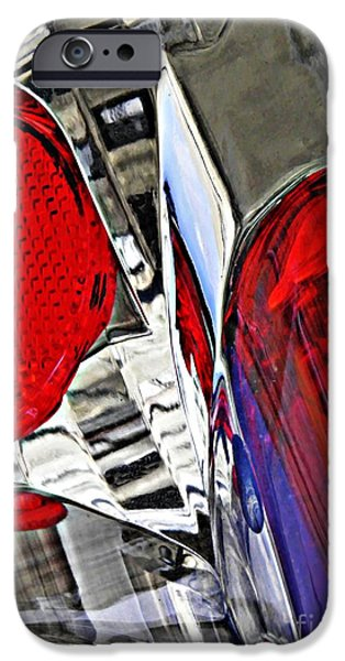 Glass Reflections iPhone Cases - Brake Light 35 iPhone Case by Sarah Loft