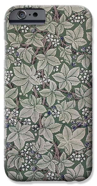 Kate iPhone Cases - Bramble wallpaper design iPhone Case by Kate Faulkner