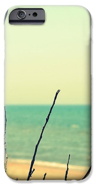Branches on the Beach iPhone Case by Michelle Calkins