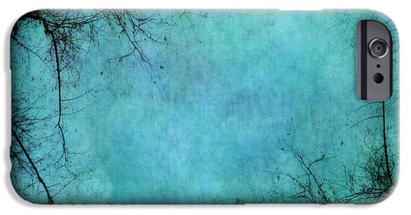 Abstractions iPhone Cases - Branches iPhone Case by Priska Wettstein