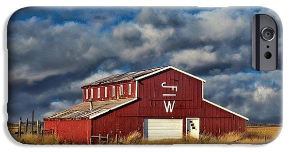 Nebraska iPhone Cases - Branded Barn iPhone Case by Sylvia Thornton