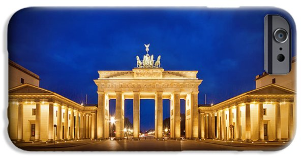 Berlin iPhone Cases - Brandenburg Gate iPhone Case by Melanie Viola