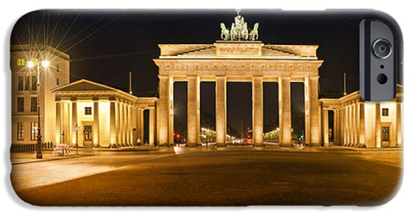 Berlin iPhone Cases - Brandenburg Gate Panoramic iPhone Case by Melanie Viola