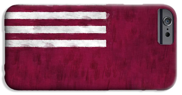 American Revolution Digital Art iPhone Cases - Brandywine Flag iPhone Case by World Art Prints And Designs