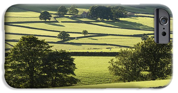 Grazing Sheep iPhone Cases - Bransdale The North Yorkshire Moors England iPhone Case by John Potter