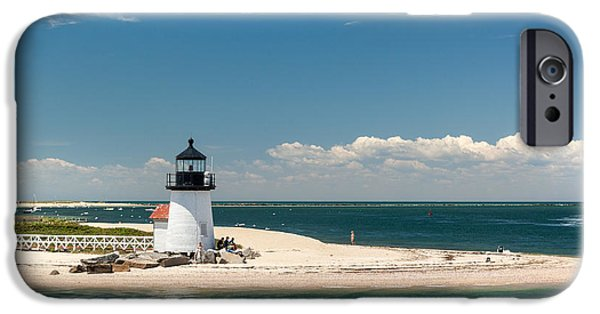 Recently Sold -  - New England Lighthouse iPhone Cases - Brant Point Light Nantucket iPhone Case by Michelle Wiarda