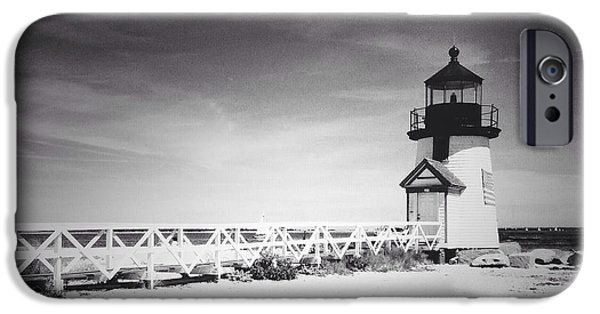 Nantucket iPhone Cases - Brant Point Lighthouse iPhone Case by Natasha Marco