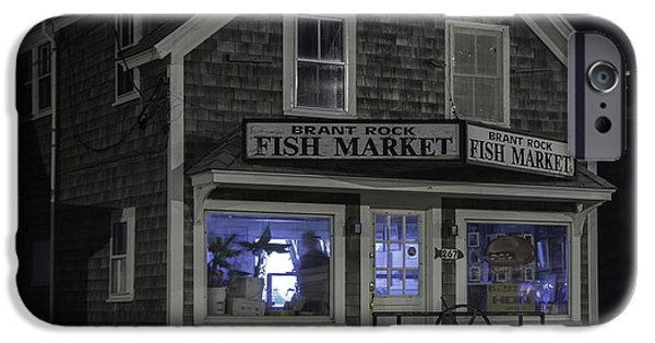 Village iPhone Cases - Brant Rock Fish Market iPhone Case by Kate Hannon