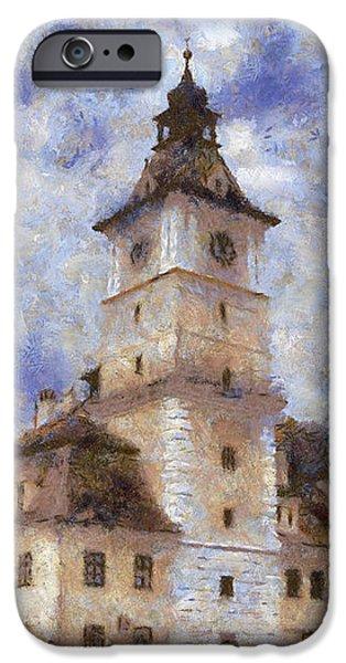 Brasov City Hall iPhone Case by Jeff Kolker