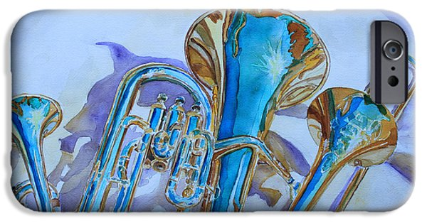 Trio iPhone Cases - Brass Candy Trio iPhone Case by Jenny Armitage