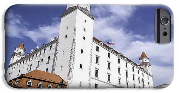 Flag iPhone Cases - Bratislava Castle. iPhone Case by Fernando Barozza