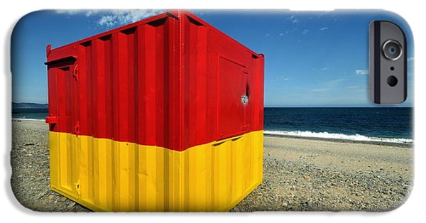 Architectur iPhone Cases - Bray Life Guard Station in Ireland iPhone Case by Frazer Ashford