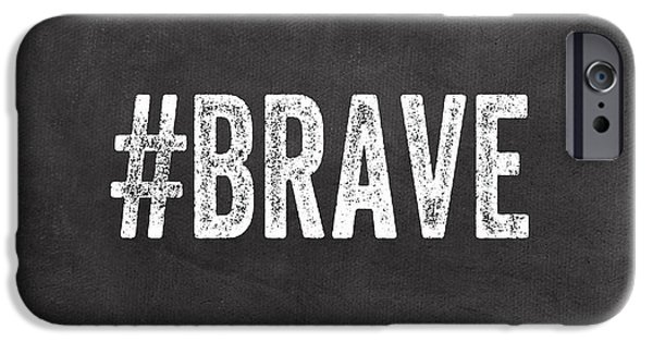 Employee iPhone Cases - Brave Card- Greeting card iPhone Case by Linda Woods
