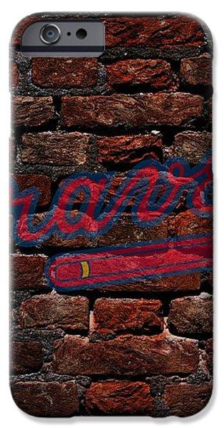Braves Baseball Graffiti on Brick  iPhone Case by Movie Poster Prints