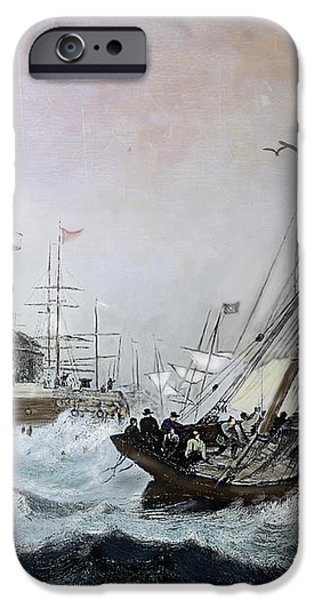 Braving the Storm iPhone Case by Lianne Schneider