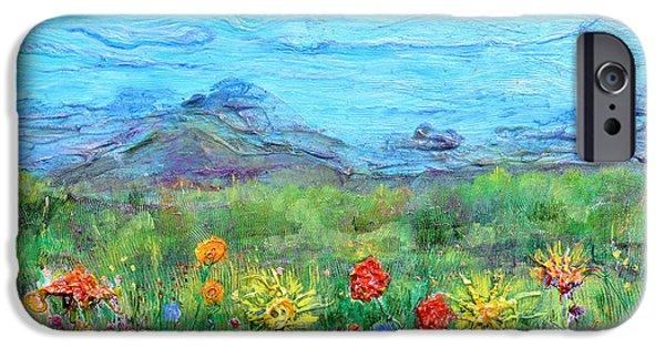 Floral Reliefs iPhone Cases - Brazen Blooms iPhone Case by Regina Valluzzi