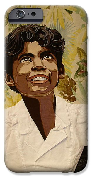 Bible Tapestries - Textiles iPhone Cases - Brazilian Boy iPhone Case by Patt Tiemeier