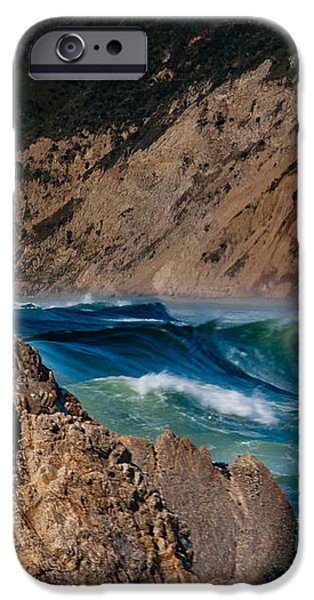 Breakers at Pt Reyes iPhone Case by Bill Gallagher