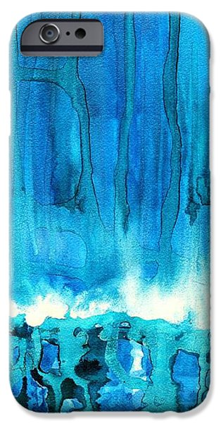 Breakers off Point Reyes original painting iPhone Case by Sol Luckman