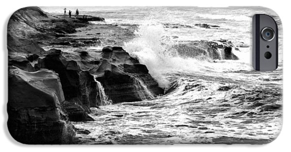 La Jolla Surfers iPhone Cases - Breakers iPhone Case by Peter Tellone