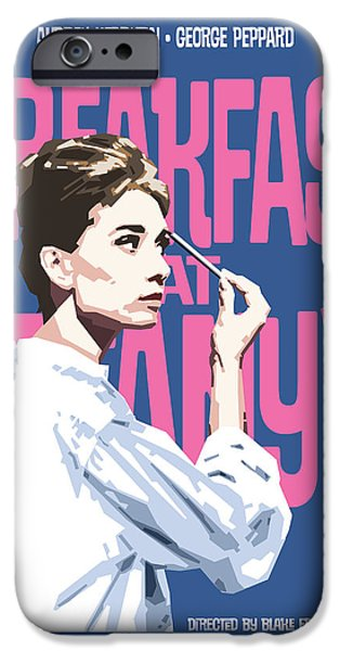 Breakfast iPhone Cases - Breakfast at Tiffanys iPhone Case by Douglas Simonson