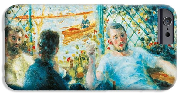 Friends Meeting iPhone Cases - Breakfast by the river iPhone Case by Pierre-Auguste Renoir