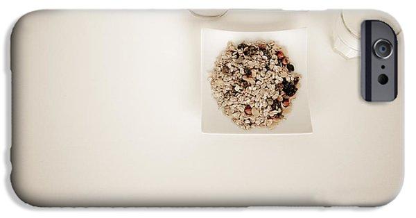 Porridge iPhone Cases - Breakfast Cereal iPhone Case by Anon Artist