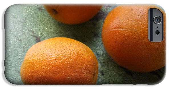 Three Sizes iPhone Cases - Breakfast Oranges II iPhone Case by Amy Tyler