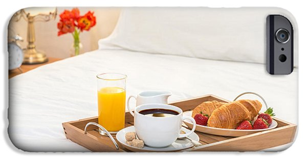 Breakfast iPhone Cases - Breakfast Served In Bed iPhone Case by Amanda And Christopher Elwell