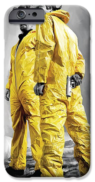 Drama iPhone Cases - Breaking Bad Artwork iPhone Case by Sheraz A