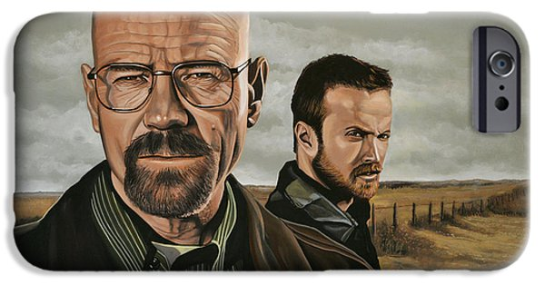 Idol Paintings iPhone Cases - Breaking Bad iPhone Case by Paul Meijering
