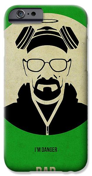 Film iPhone Cases - Breaking Bad Poster 1 iPhone Case by Naxart Studio
