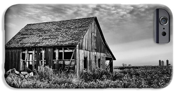 Old Barns iPhone Cases - Breaking Badly iPhone Case by Jon Dickson