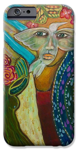 Metamorphosis Paintings iPhone Cases - Breaking Free iPhone Case by Havi Mandell