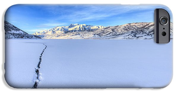Serenity Landscapes iPhone Cases - Breaking Ice iPhone Case by Chad Dutson