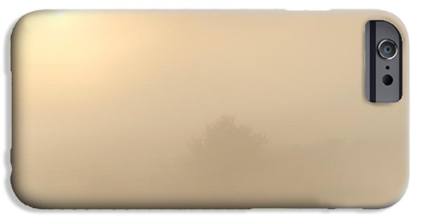 Fog Mist Photographs iPhone Cases - Breaking Through iPhone Case by Mike  Dawson