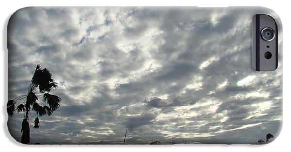 Sun Breaking Through Clouds iPhone Cases - Breaking Through iPhone Case by Zinvolle Art