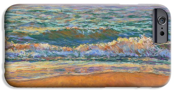 Sunset Pastels iPhone Cases - Breaking Waves iPhone Case by Michael Camp