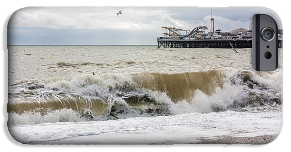 North Sea iPhone Cases - Breaking Waves iPhone Case by Semmick Photo