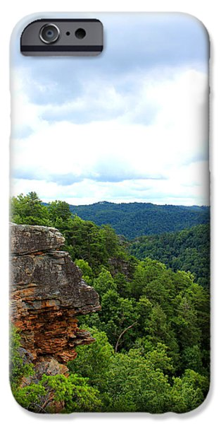 Broken iPhone Cases - Breaks Interstate Park Virginia Kentucky Rock Valley View Overlook iPhone Case by Design Turnpike