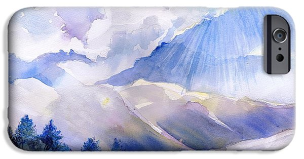 Sun Breaking Through Clouds iPhone Cases - Breakthrough iPhone Case by Reveille Kennedy